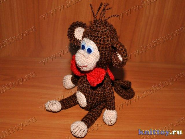 как вязать обезьянку амигуруми крючком