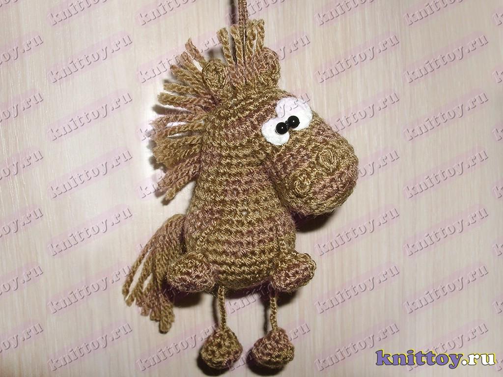 схема вязания крючком лошадок